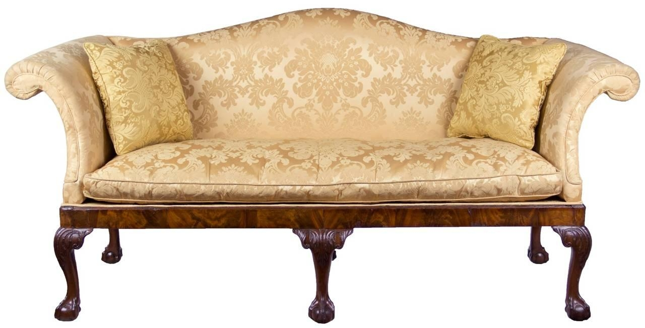 Merveilleux Chippendale Camelback Sofa With Claw And Ball Feet, English Or Inside  Chippendale Camelback Sofas (