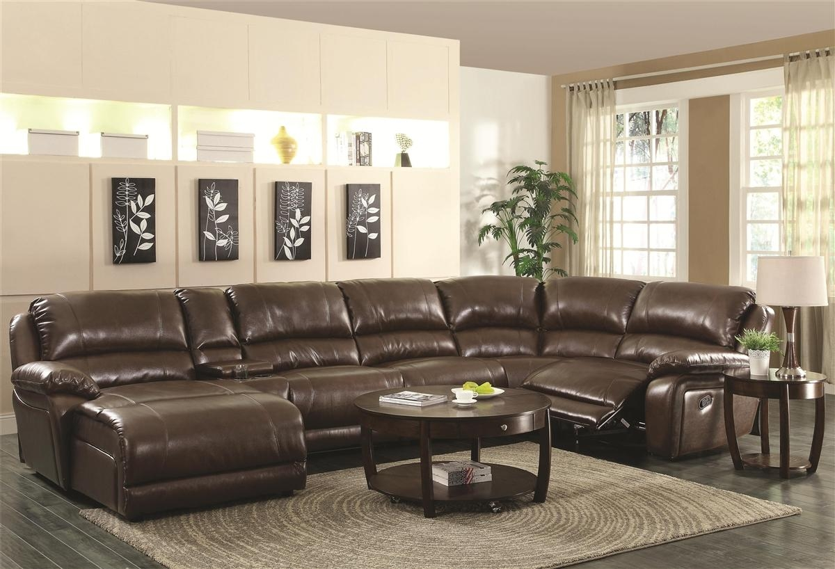 Chocolate Brown Sectional Sofa With Chaise 64 With Chocolate Brown In Chocolate Brown Sectional Sofa (Image 4 of 15)