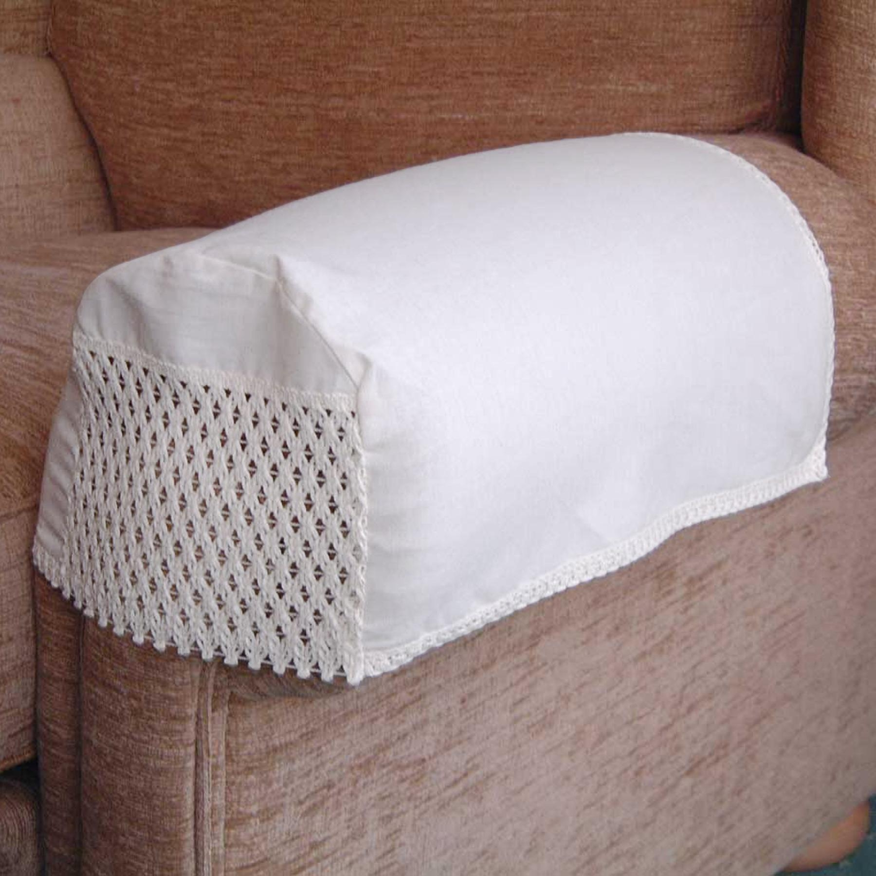 Choice Of Antimacassar Chair Backs And Arm Caps In Various Designs For Sofa Arm Caps (Image 8 of 20)