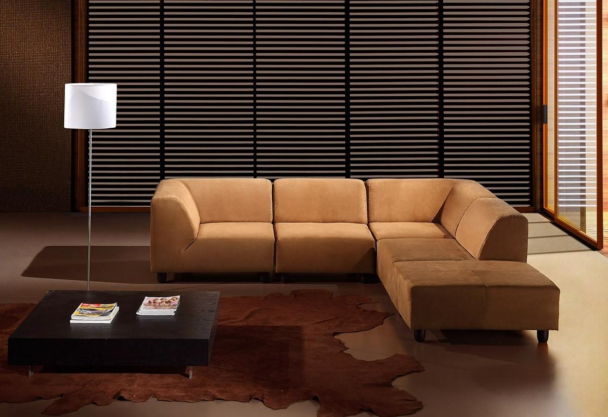 Choosing Between Leather And Fabric Modern Sofas – La Furniture Blog Intended For Caramel Leather Sofas (Image 7 of 20)