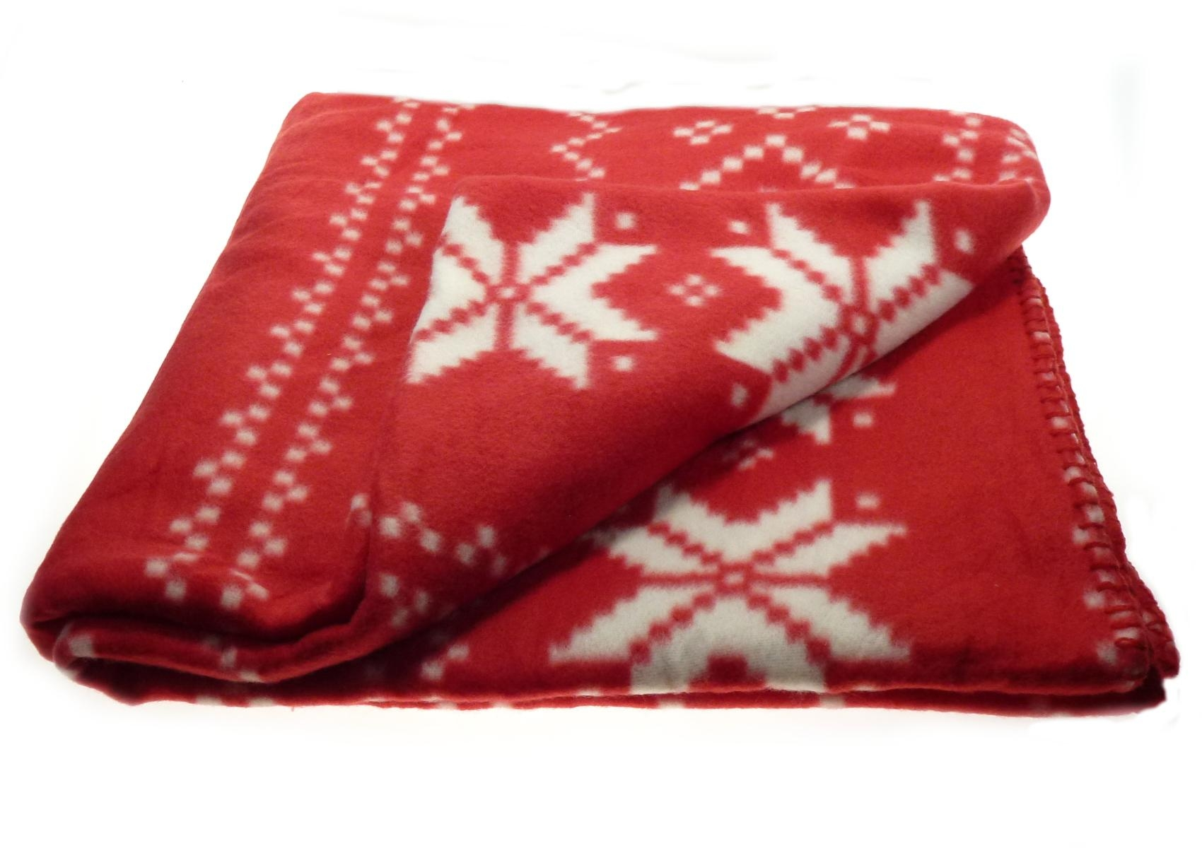 Christmas Soft Fleecy Throw Over Festive Xmas Polar Fleece Bed Intended For Red Sofa Throws (Image 1 of 22)