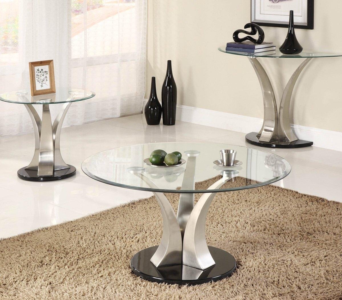 Chrome And Glass Sofa Table 90 With Chrome And Glass Sofa Table With Chrome Sofa Tables (Image 3 of 20)