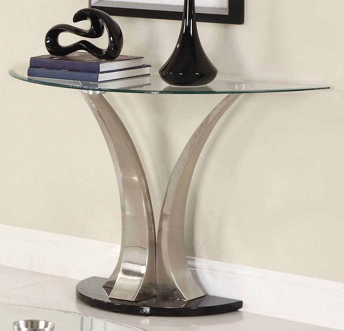 Chrome And Glass Sofa Table – La Musee Throughout Chrome Sofa Tables (Image 2 of 20)