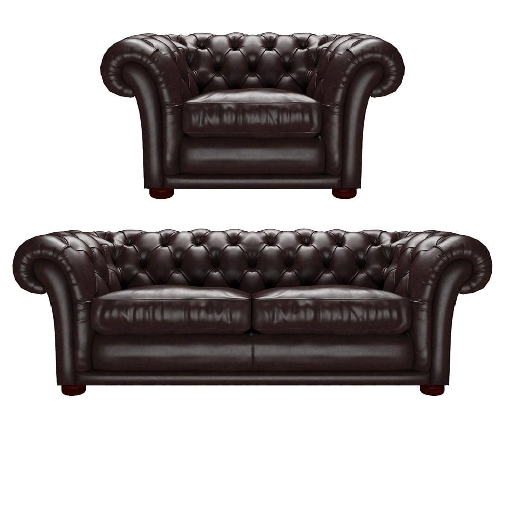 Churchill 3 Seater And Churchill Chair Old English Smoke – From Throughout Churchill Sofas (Image 5 of 20)