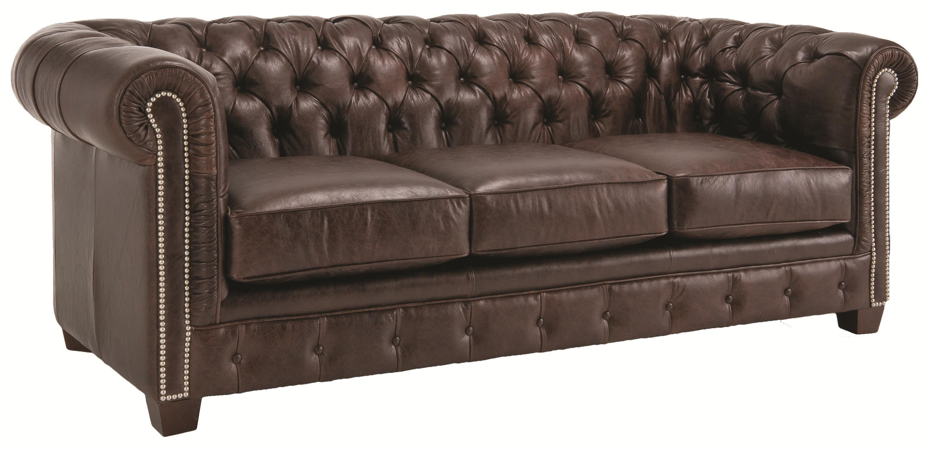 Churchill Tufted Leather Sofa | Living Expressions – Furniture Pertaining To Churchill Sofas (Image 13 of 20)