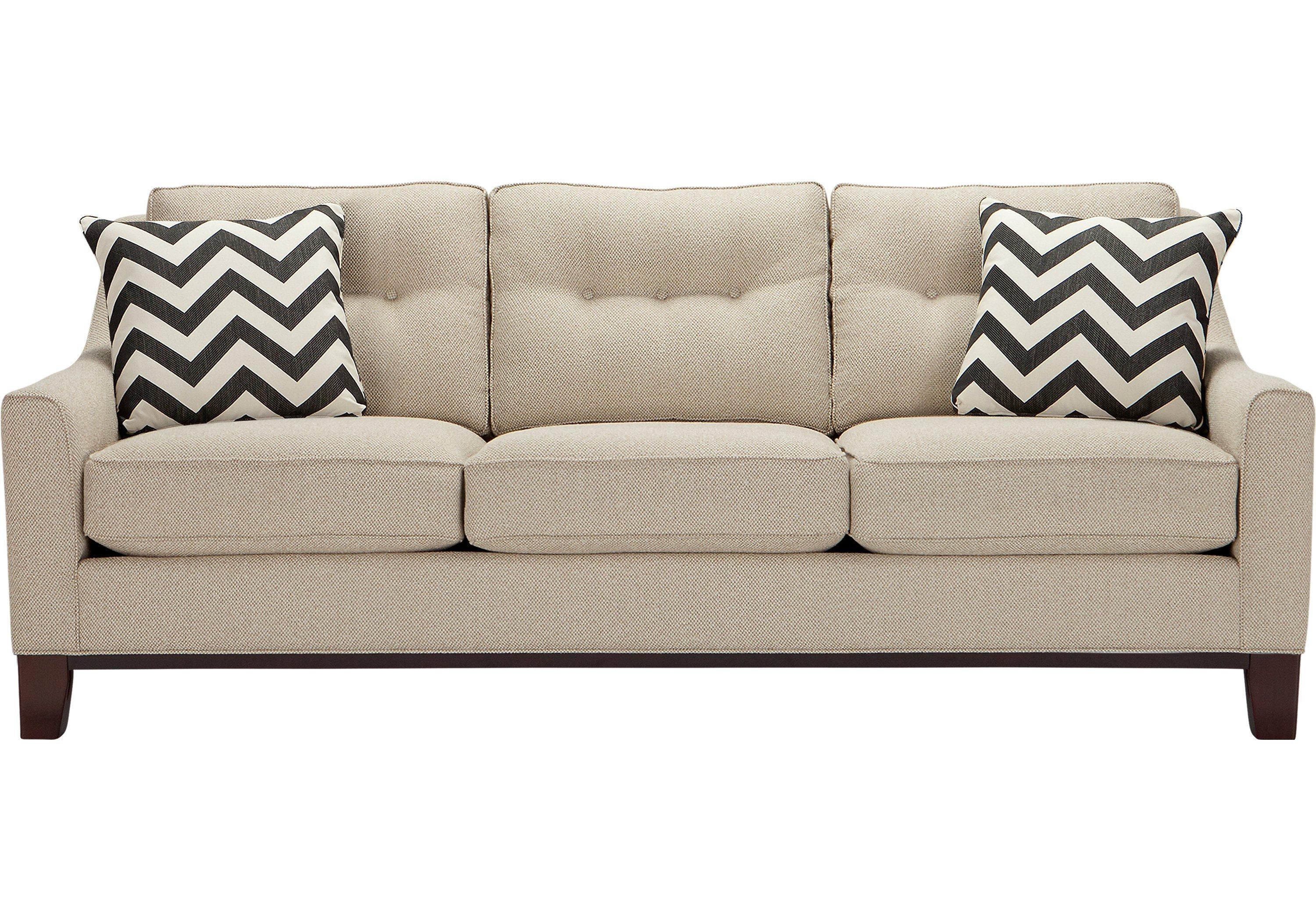 Cindy Crawford Home Hadly Beige Sofa – Rooms To Go Puerto Rico For Cindy Crawford Sleeper Sofas (View 13 of 20)