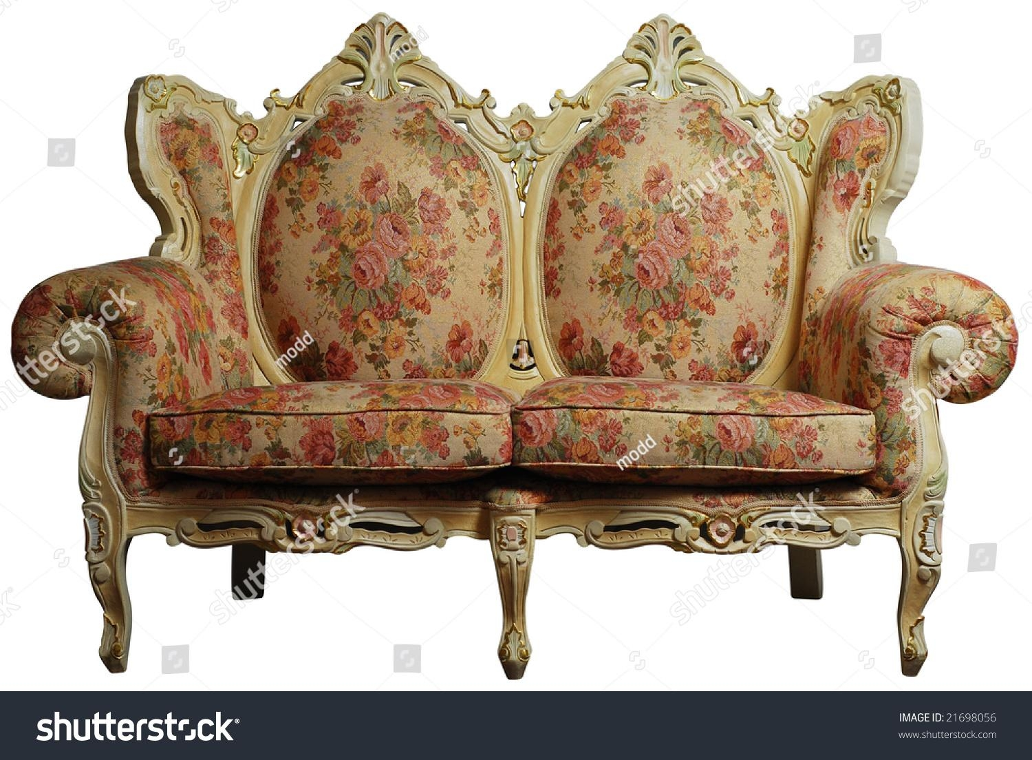Classical Antique Sofa Chair Floral Pattern Stock Photo 21698056 For Antique Sofa Chairs (Image 9 of 20)