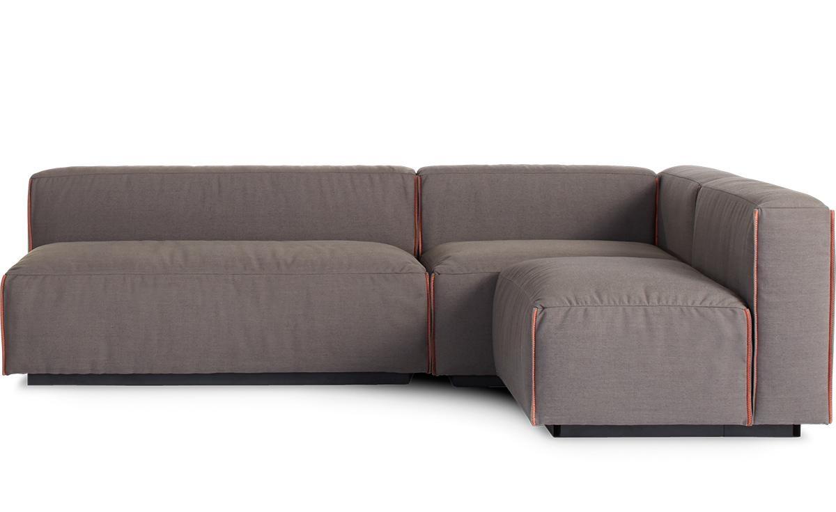 Cleon Medium Sectional Sofa – Hivemodern Pertaining To Blu Dot Sofas (Image 7 of 20)