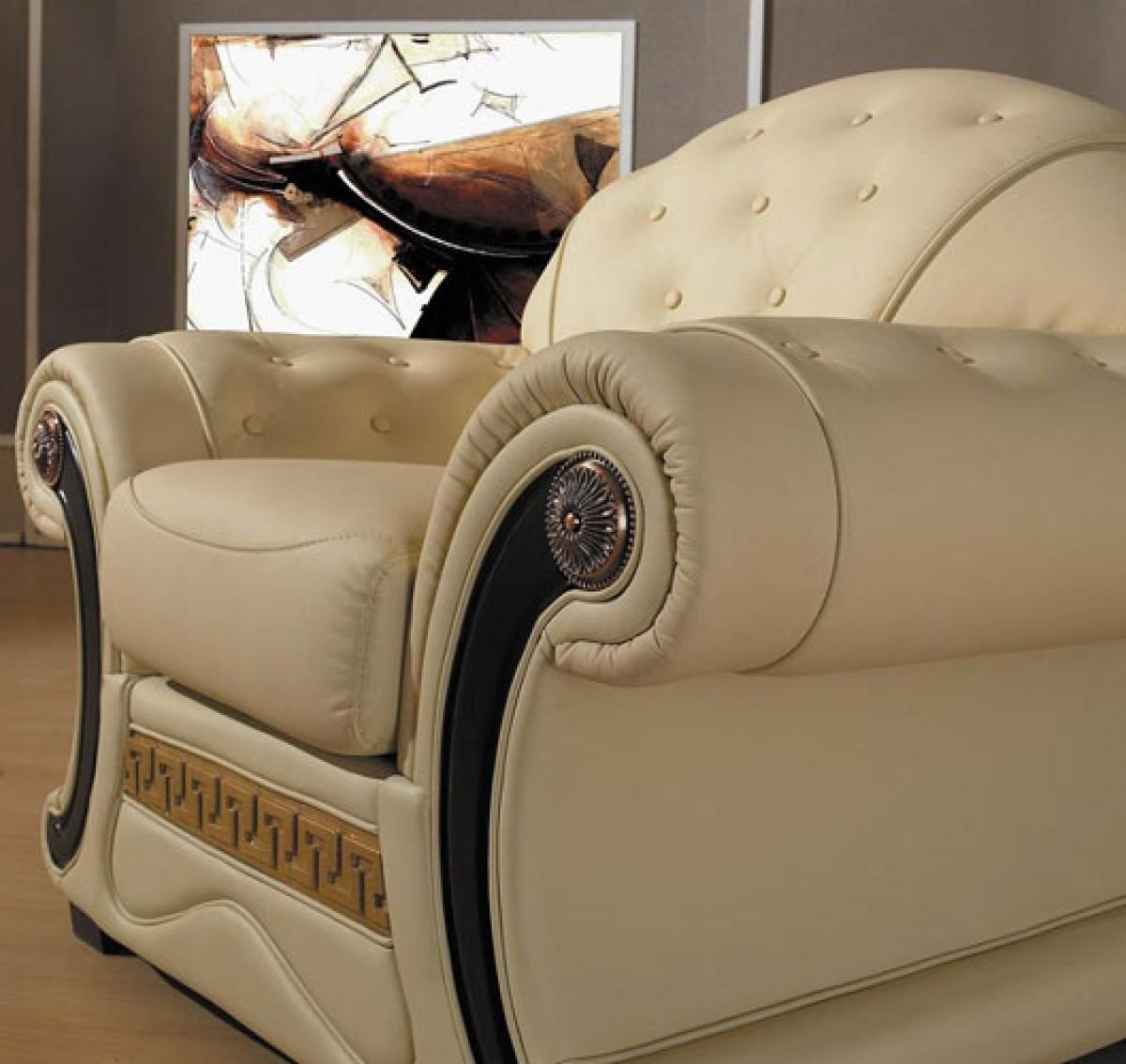 Cleopatra – Traditional Leather Sofa Set With Regard To Cleopatra Sofas (Image 5 of 20)