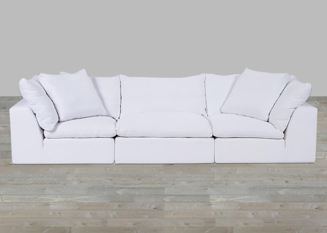 Cloud Modular Preconfigured Fabric Sofa For Cloud Sectional Sofas (Image 5 of 20)