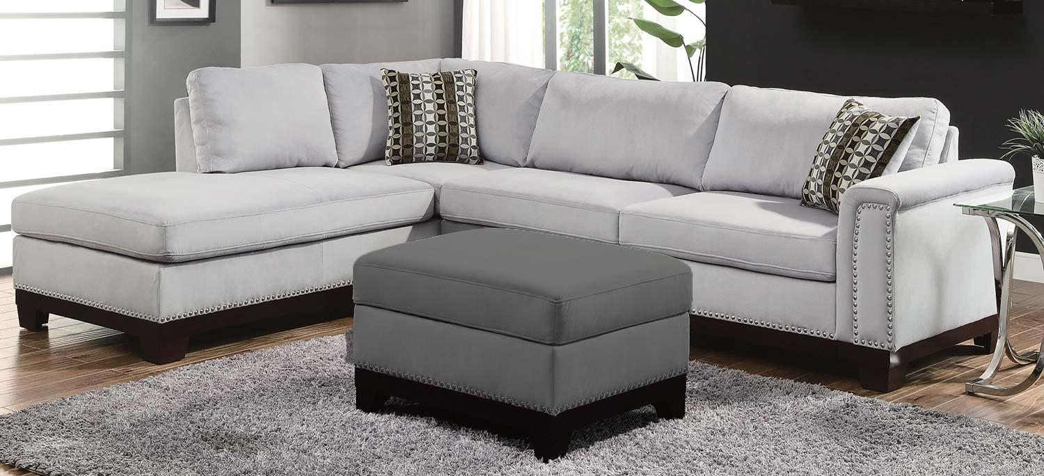 Coaster Mason Sectional Sofa – Blue Grey 503615 At Homelement Within Coaster Sectional Sofas (Image 7 of 20)