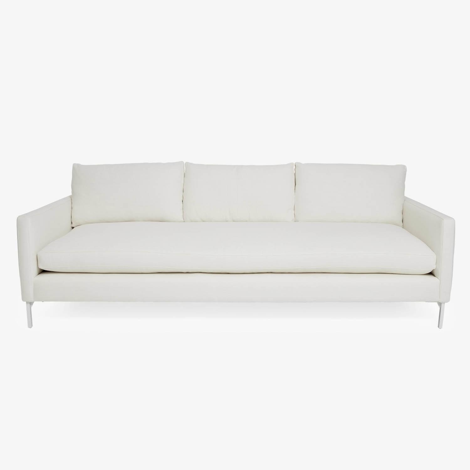 Cobble Hill White Powder Coat Sofa – Abc Carpet & Home With Regard To Cobble Hill Sofas (Image 15 of 20)