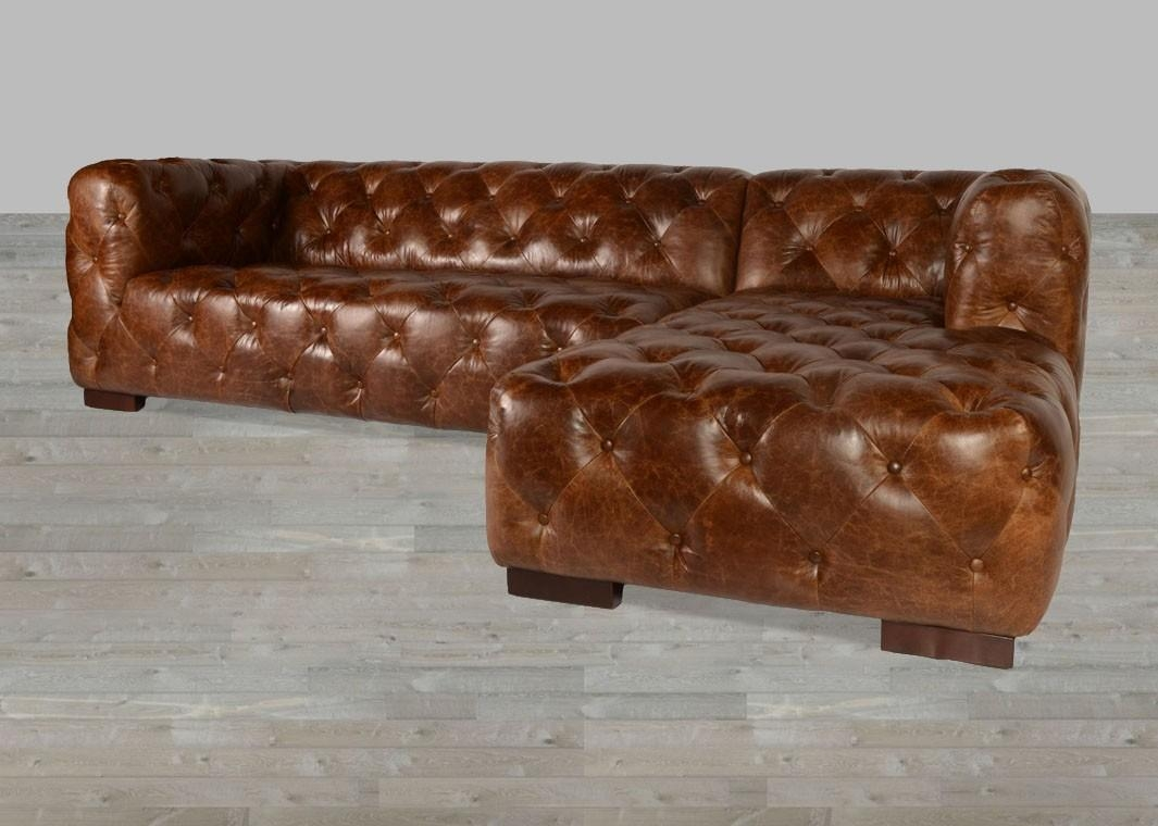 Coco Brompton Leather Vintage Sectional Pertaining To Brompton Leather Sectional Sofas (Image 11 of 20)