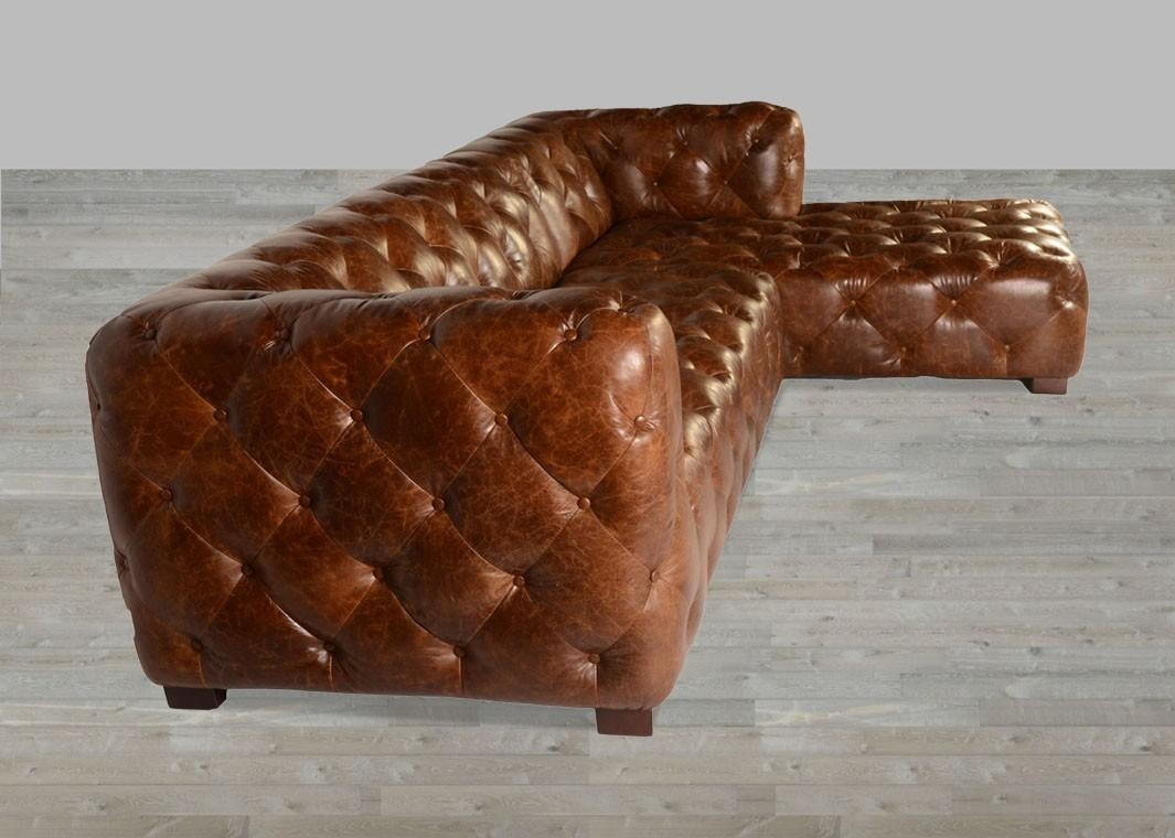 Coco Brompton Leather Vintage Sectional Within Brompton Leather Sectional Sofas (View 12 of 20)