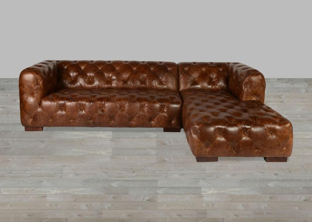 Coco Brompton Leather Vintage Sectional Within Brompton Leather Sectional Sofas (View 2 of 20)