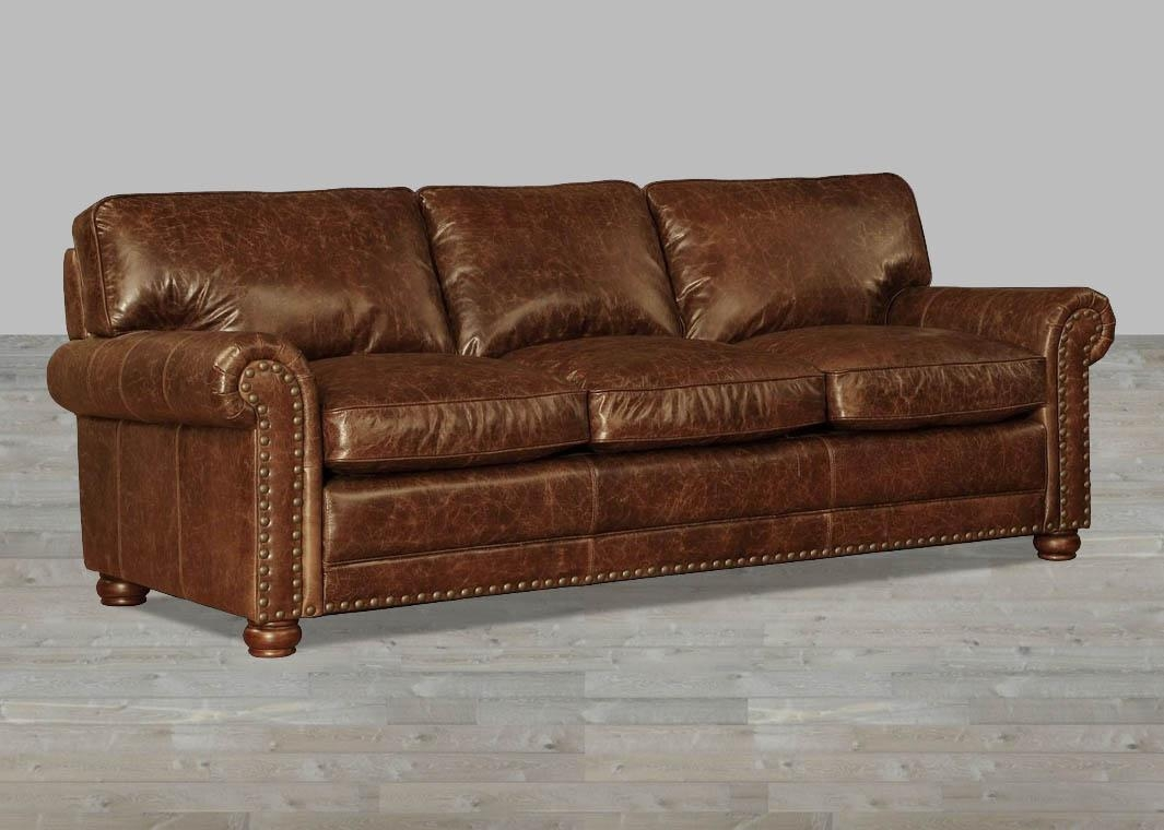 Coco Brompton Leather Vintage Sofa Intended For Brompton Leather Sofas (Image 8 of 20)
