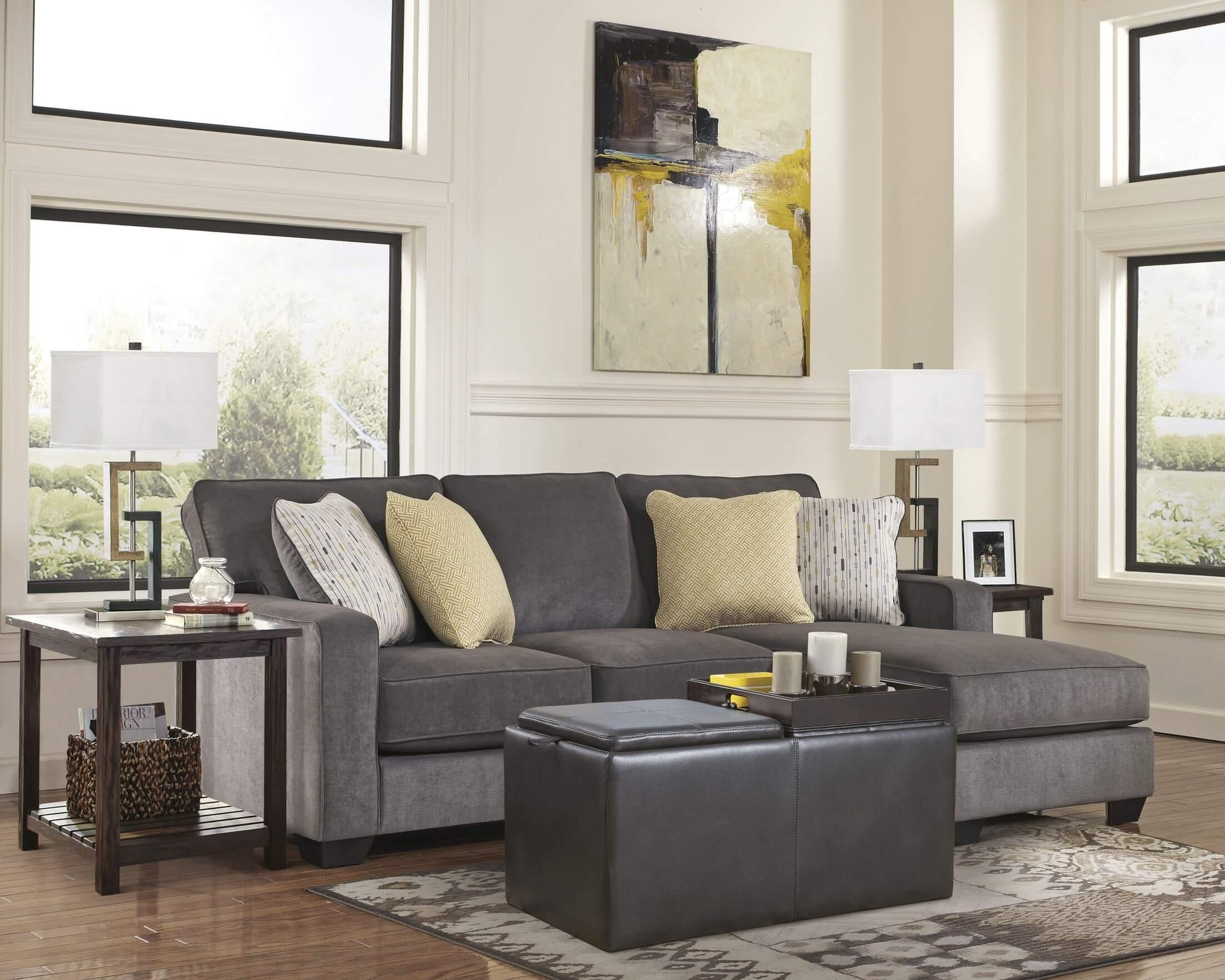 Featured Image of Blue Sofa Tabless