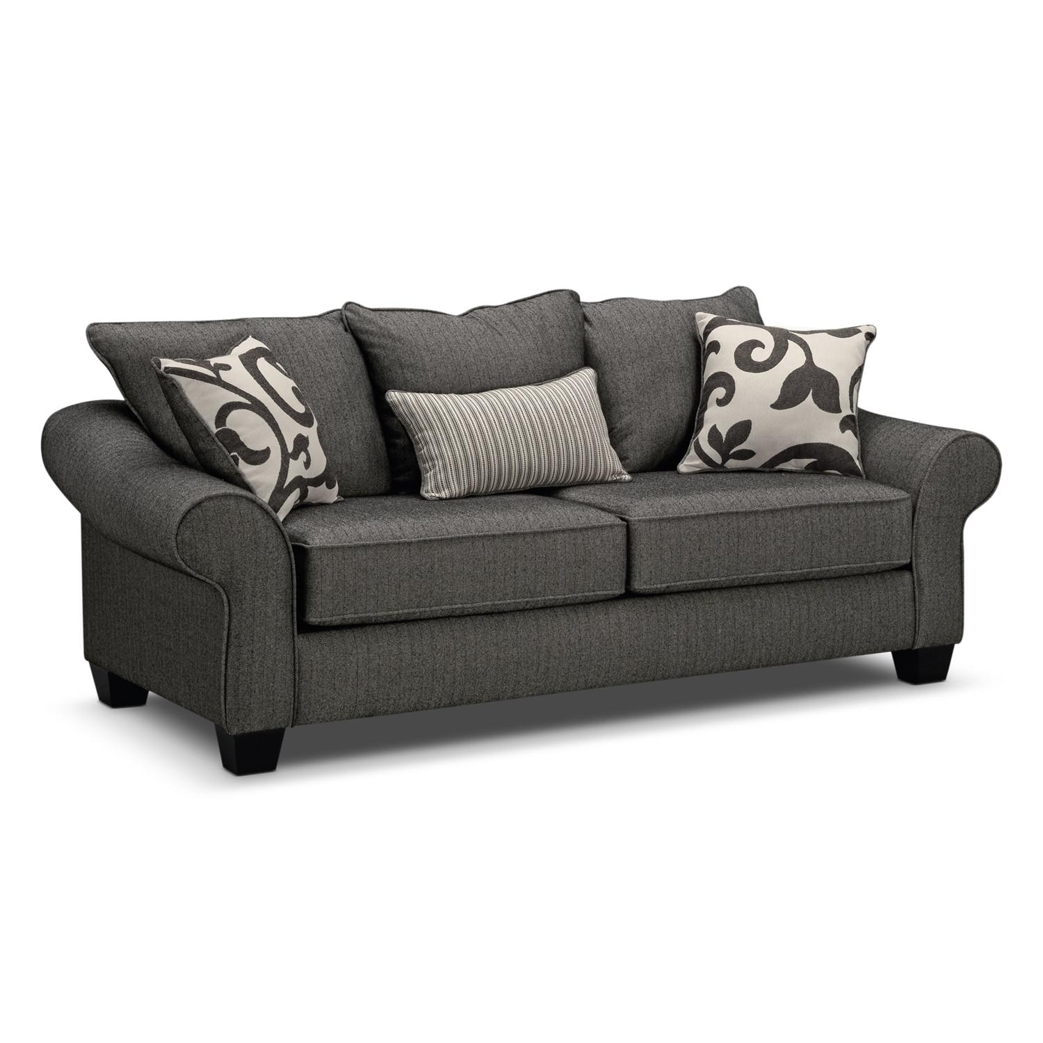 Colette Sofa And Accent Chair Set – Gray | Value City Furniture For Sofa And Accent Chair Set (View 12 of 20)