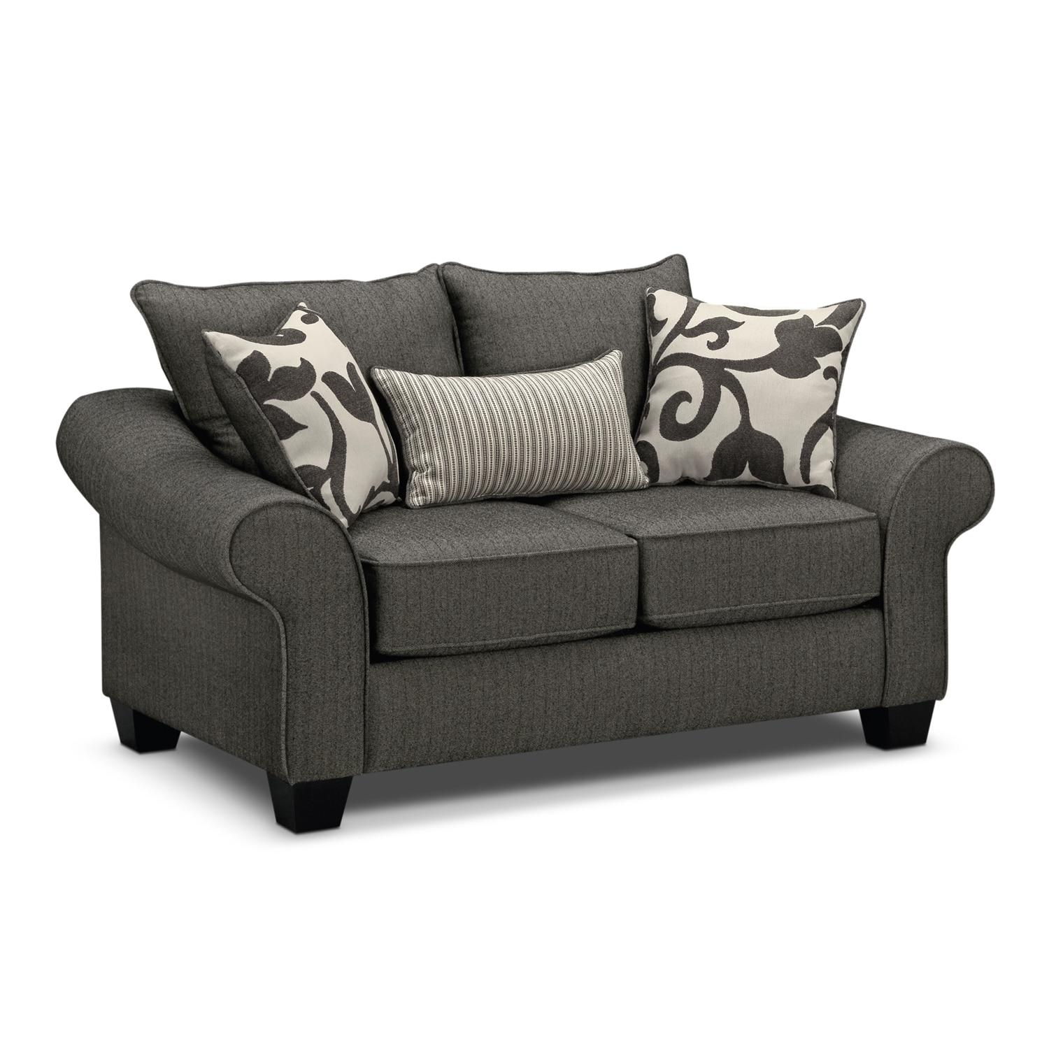 Colette Sofa, Loveseat And Accent Chair Set – Gray | American Regarding Sofa And Accent Chair Set (View 16 of 20)