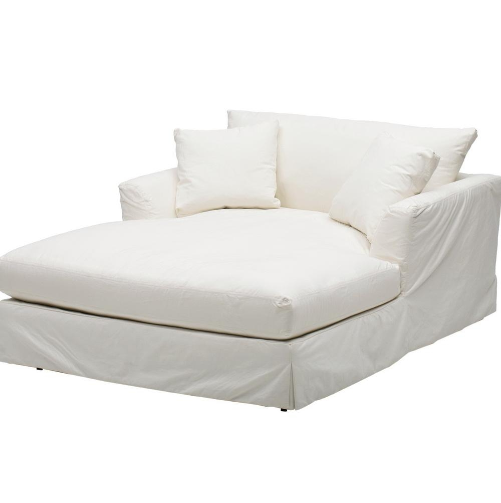 Slipcover Sofa Chaise Lounge: 20 Collection Of Slipcovered Chaises