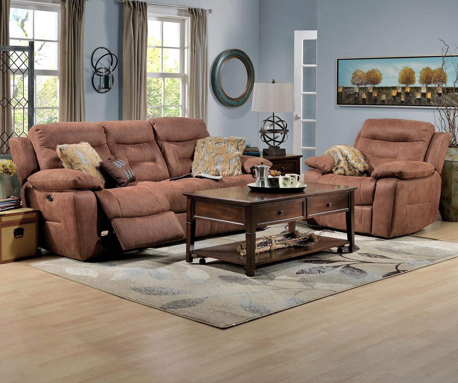 Collins Power Reclining Sofa – Hazelnut | Leon's For Collins Sofas (Image 1 of 20)