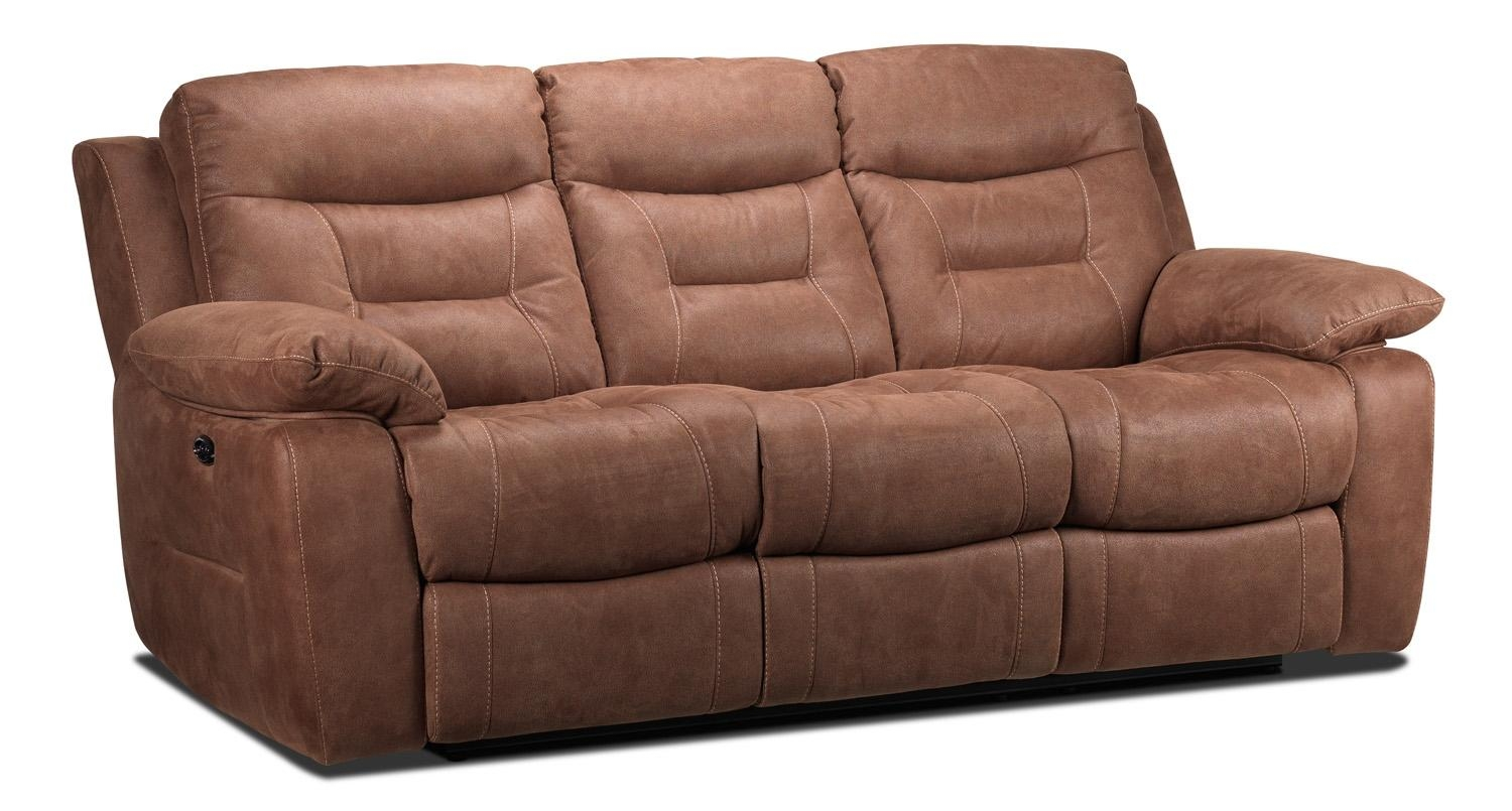 Collins Power Reclining Sofa – Hazelnut | Leon's Within Collins Sofas (Image 3 of 20)