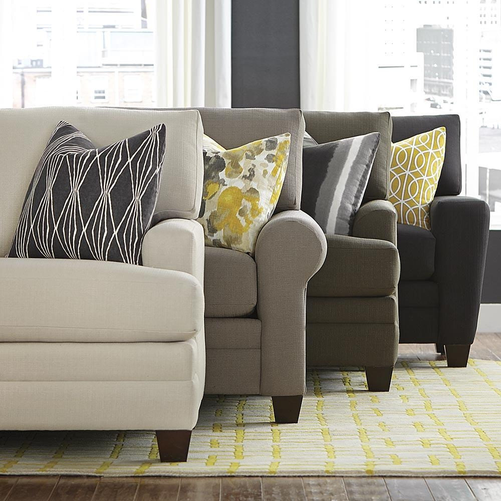 Color Series: Decorating With Buttercup | Designgahs Within Bassett Cuddler Sectional (View 10 of 15)