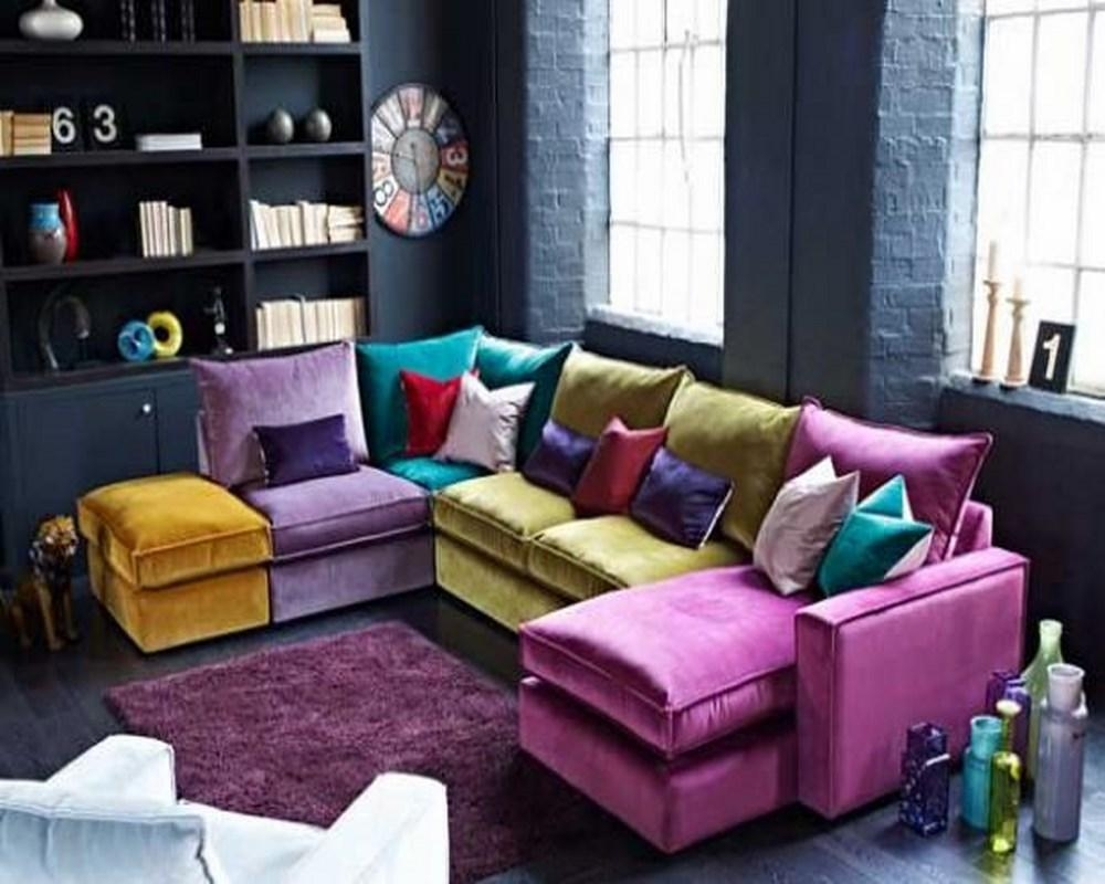 Colorful Sectional Sofas | Tehranmix Decoration For Colored Sectionals (Image 3 of 15)