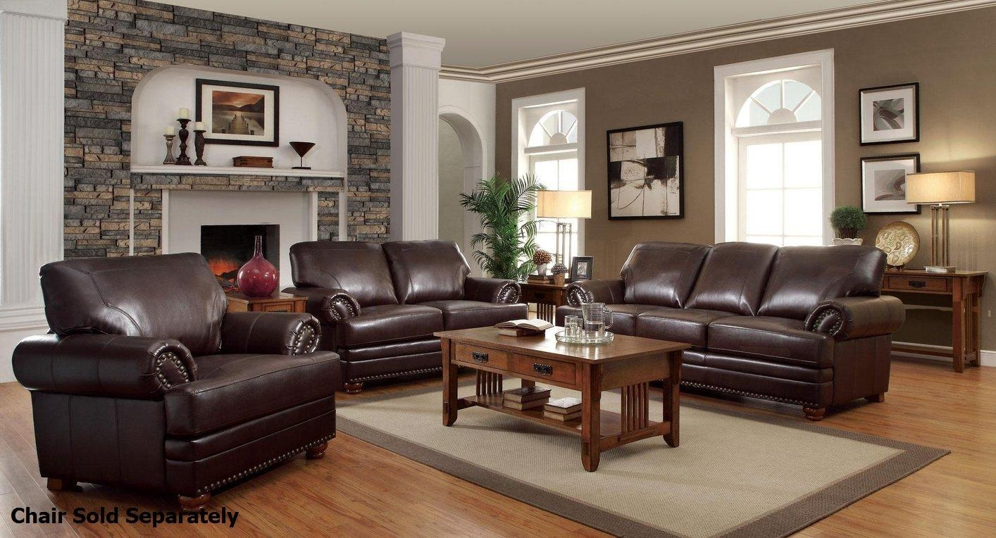 Colton Brown Leather Sofa And Loveseat Set – Steal A Sofa With Black Leather Sofas And Loveseat Sets (Image 14 of 20)