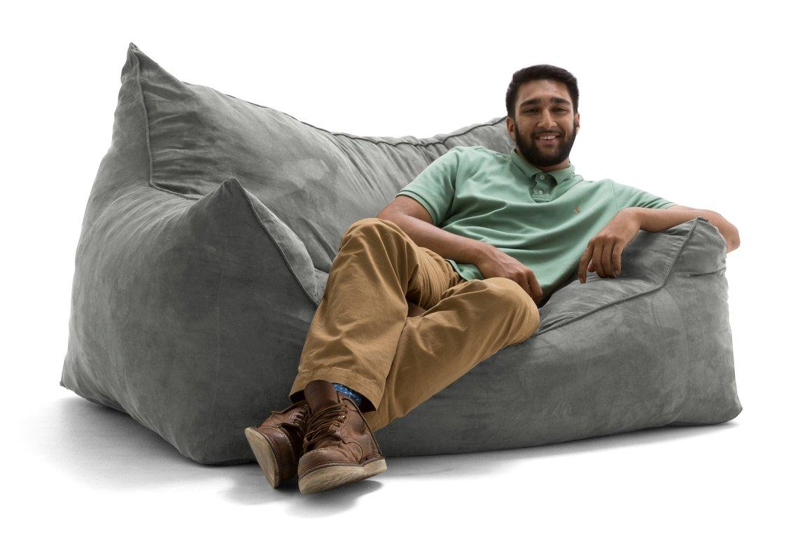 Comfort Research Big Joe Imperial Bean Bag Sofa & Reviews | Wayfair Regarding Big Joe Sofas (View 9 of 20)