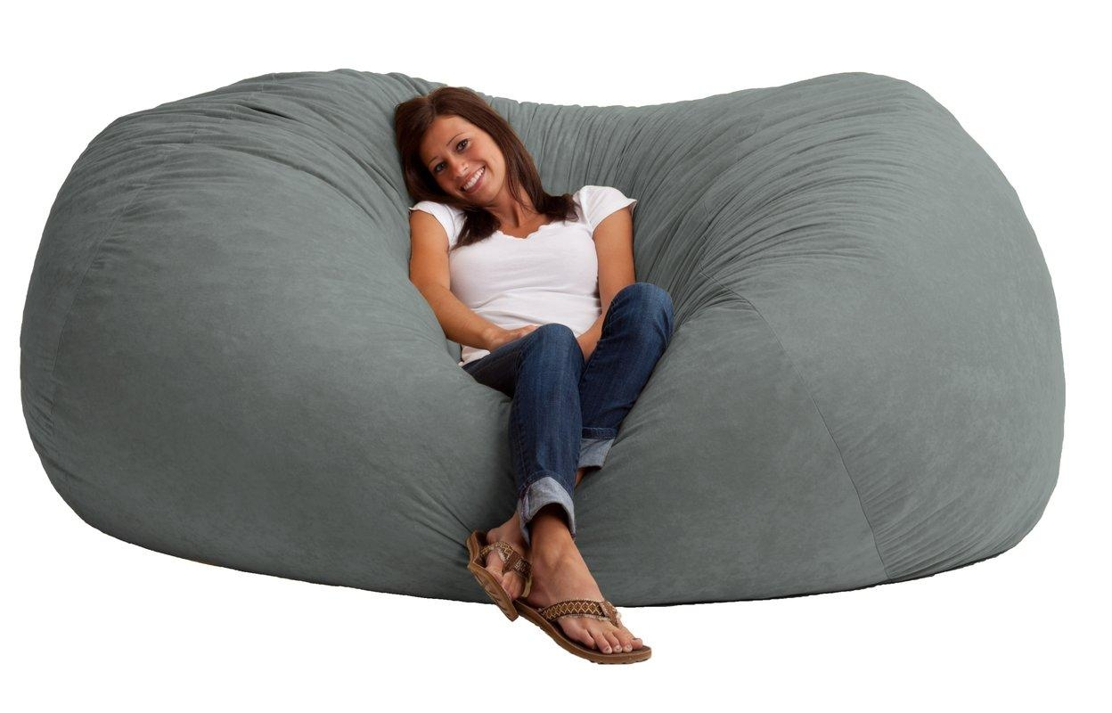 Comfort Research Fuf Bean Bag Sofa & Reviews | Wayfair For Bean Bag Sofas And Chairs (View 3 of 20)
