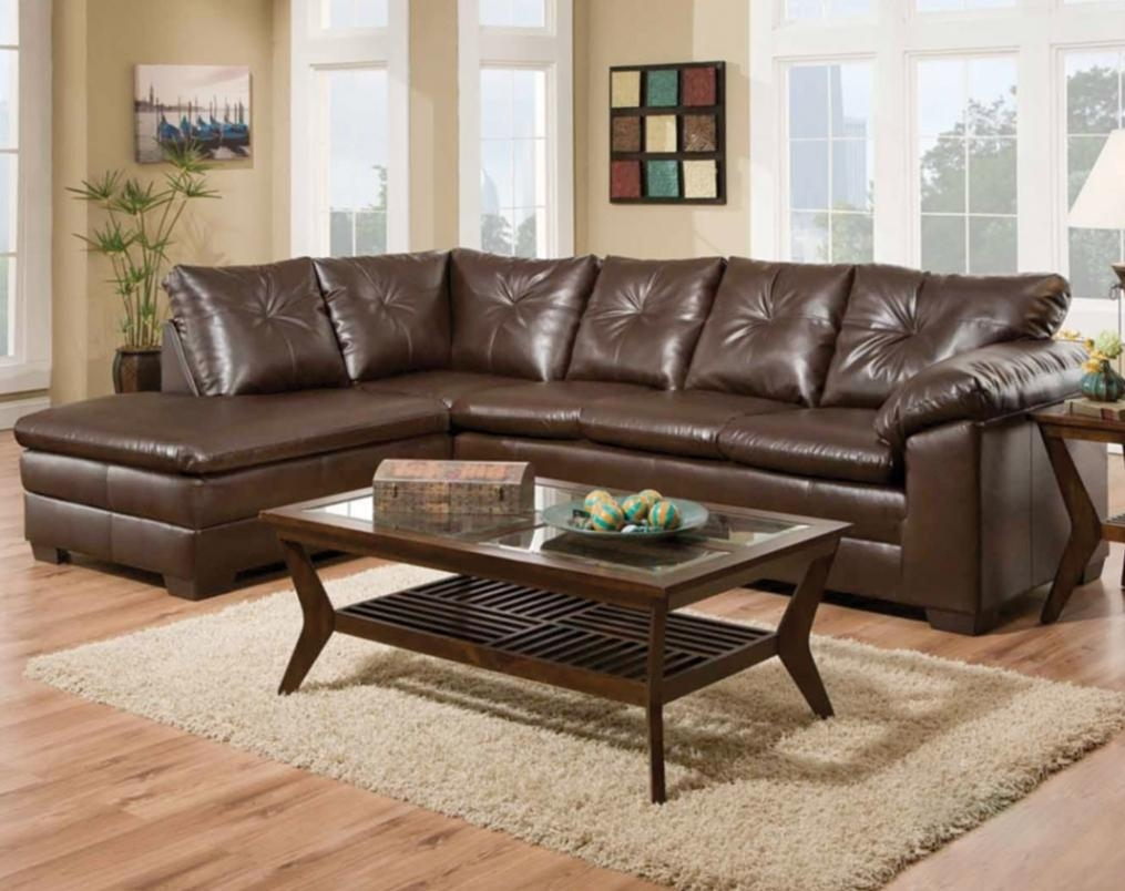 Comfortable Brown Couch | Freeport Brown 2 Piece Sectional Sofa In Comfortable Sectional (Image 3 of 15)