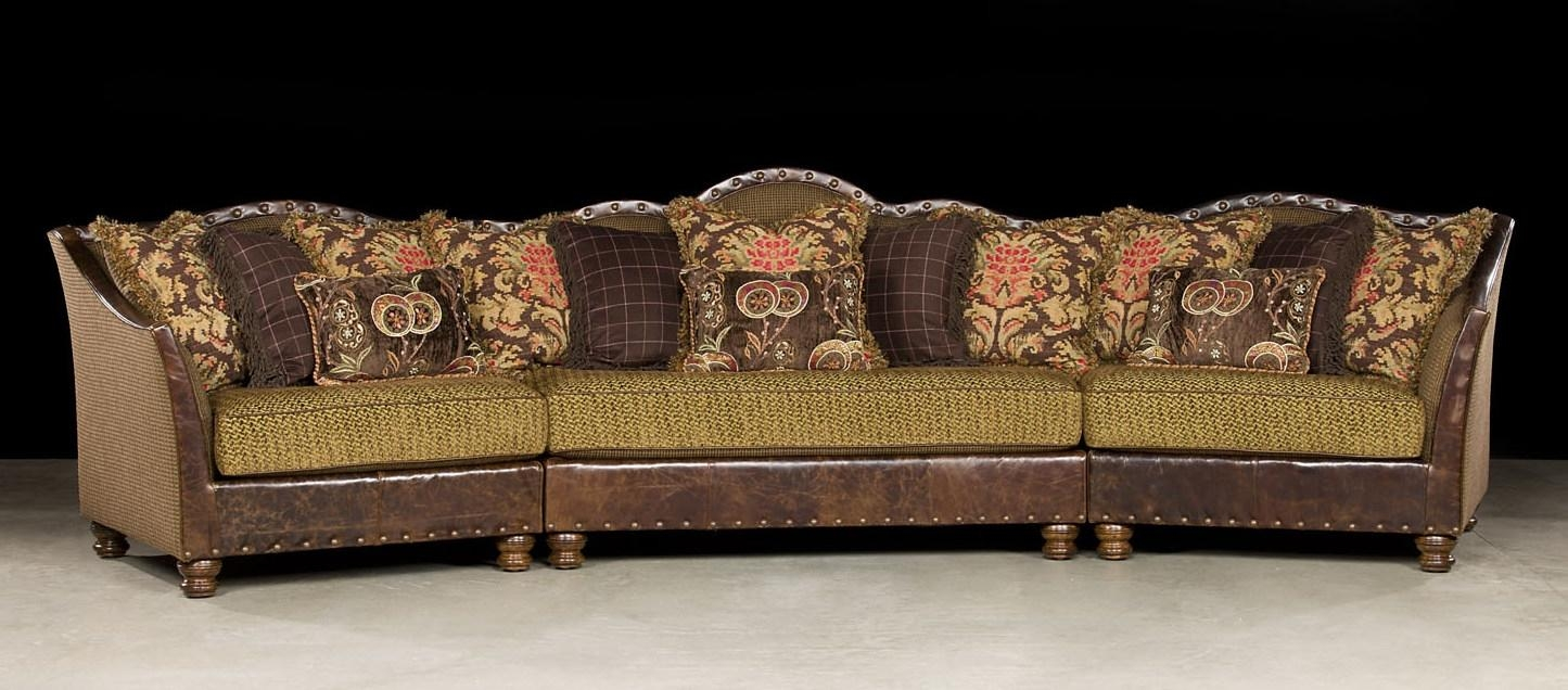 Comfy Fabric With Leather Sectional Regarding Custom Leather Sectional (Photo 13 of 15)
