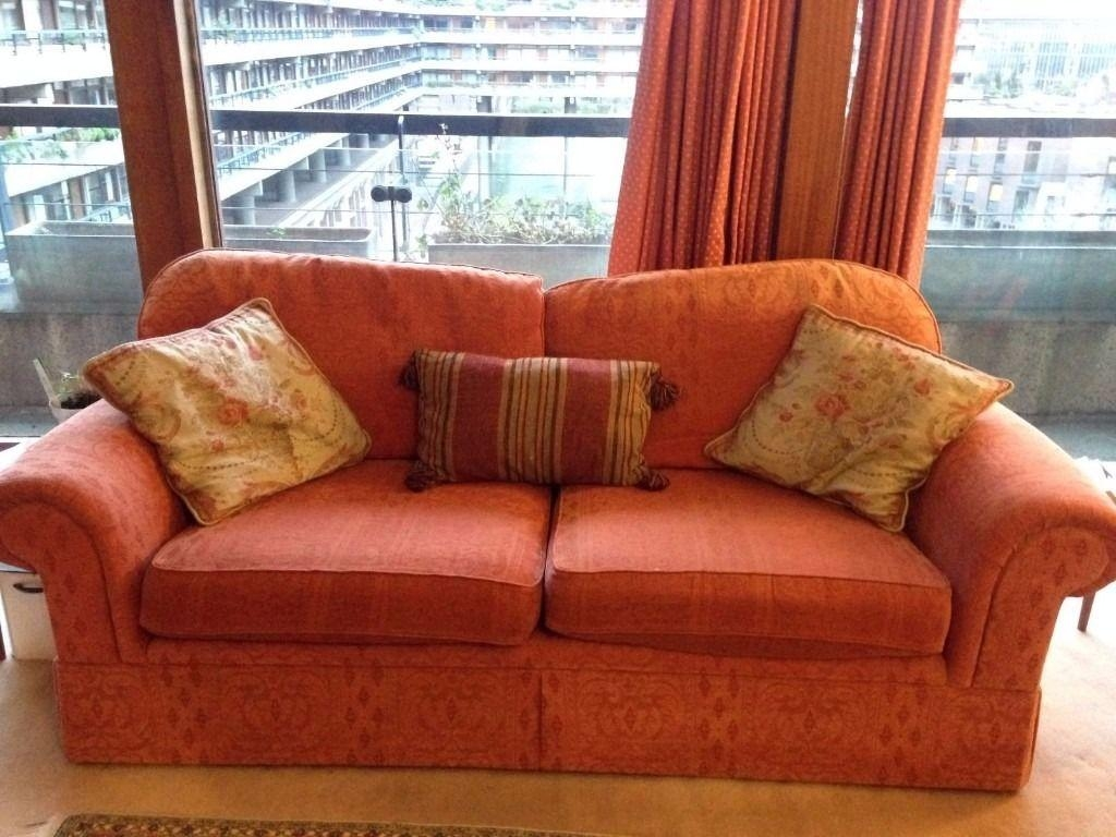 Comfy Marks And Spencer Terracotta 3 Piece Suite, Sofa And Two In Marks And Spencer Sofas And Chairs (Image 4 of 20)