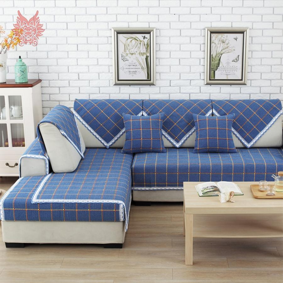 Compare Prices On Blue Sectional  Online Shopping/buy Low Price Pertaining To Blue Plaid Sofas (Image 8 of 20)
