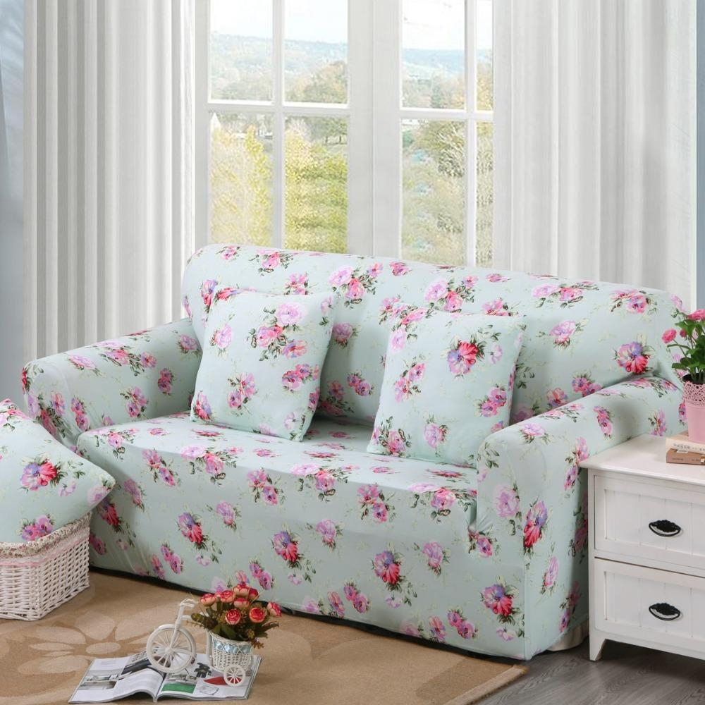 Ideas For Sofa Covers: 20 Inspirations Floral Slipcovers