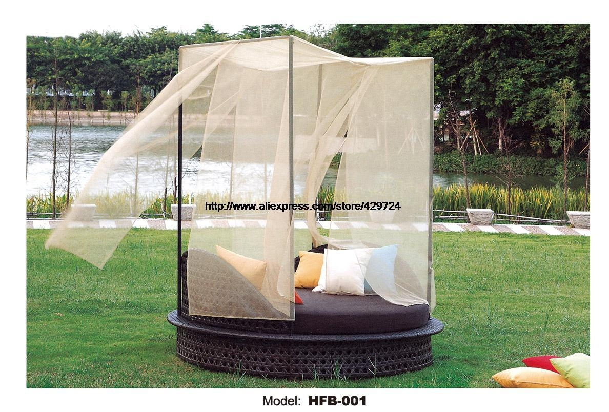Compare Prices On Round Outdoor Bed Online Shopping/buy Low Price Intended For Outdoor Sofas With Canopy (View 13 of 20)