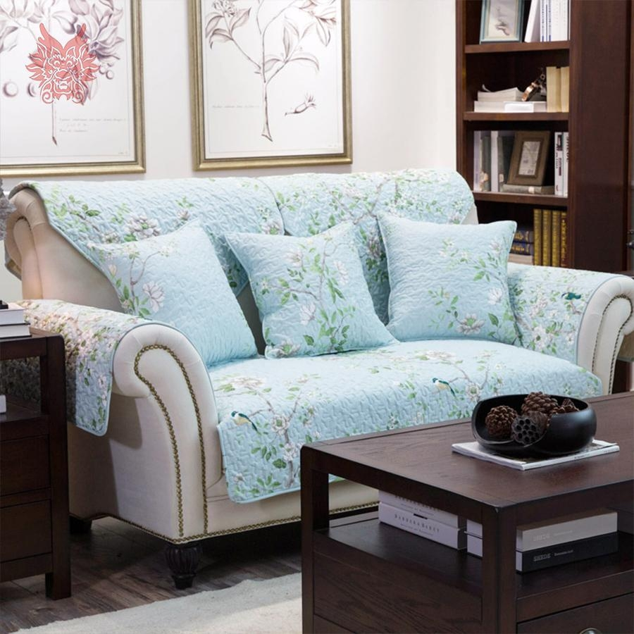 Compare Prices On White Sofa Slipcovers  Online Shopping/buy Low With Regard To Floral Sofa Slipcovers (Image 4 of 20)