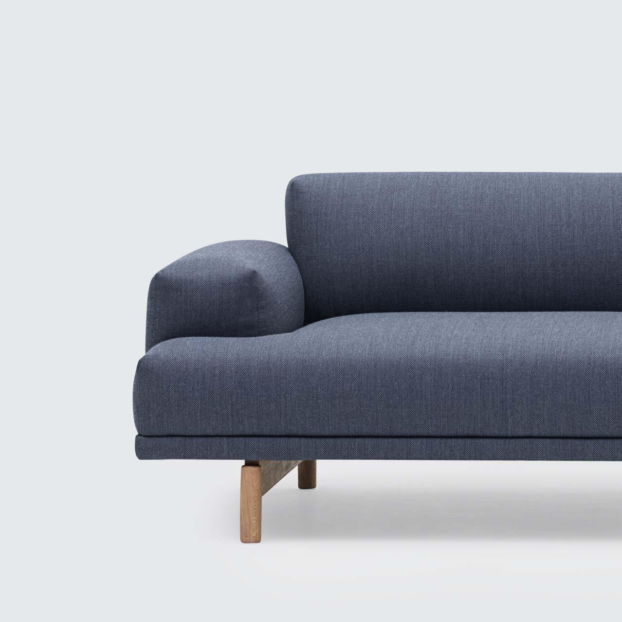 Compose Two Seater Sofa In Two Seater Sofas (Image 5 of 20)