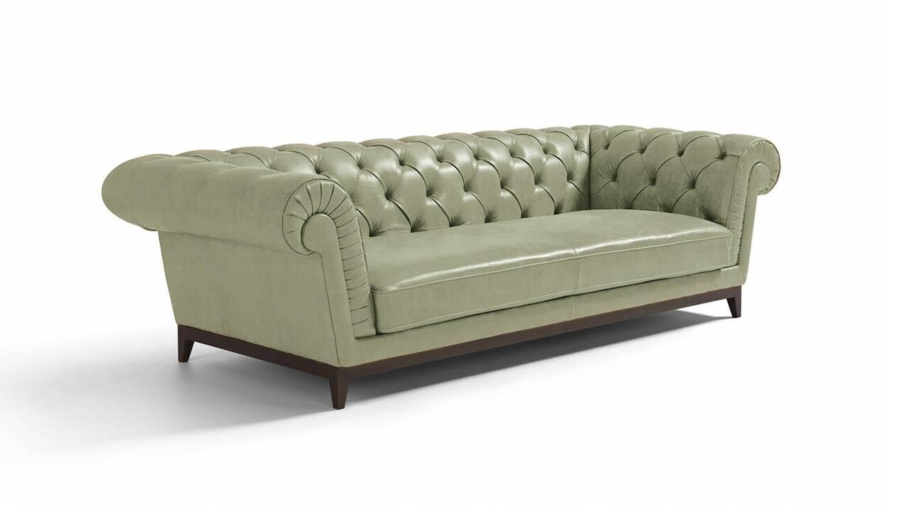 Concerta Large 3 Seater Leather Sofa | Vavicci | Fine Home Regarding 3 Seater Leather Sofas (View 5 of 20)