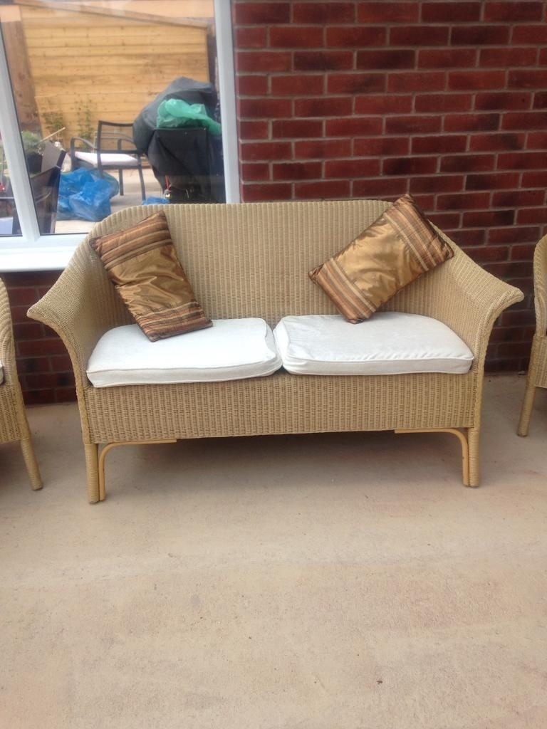 Conservatory Two Seater Cane Sofa And Two Chairs | In Wigston Inside Cane Sofas (Image 10 of 20)