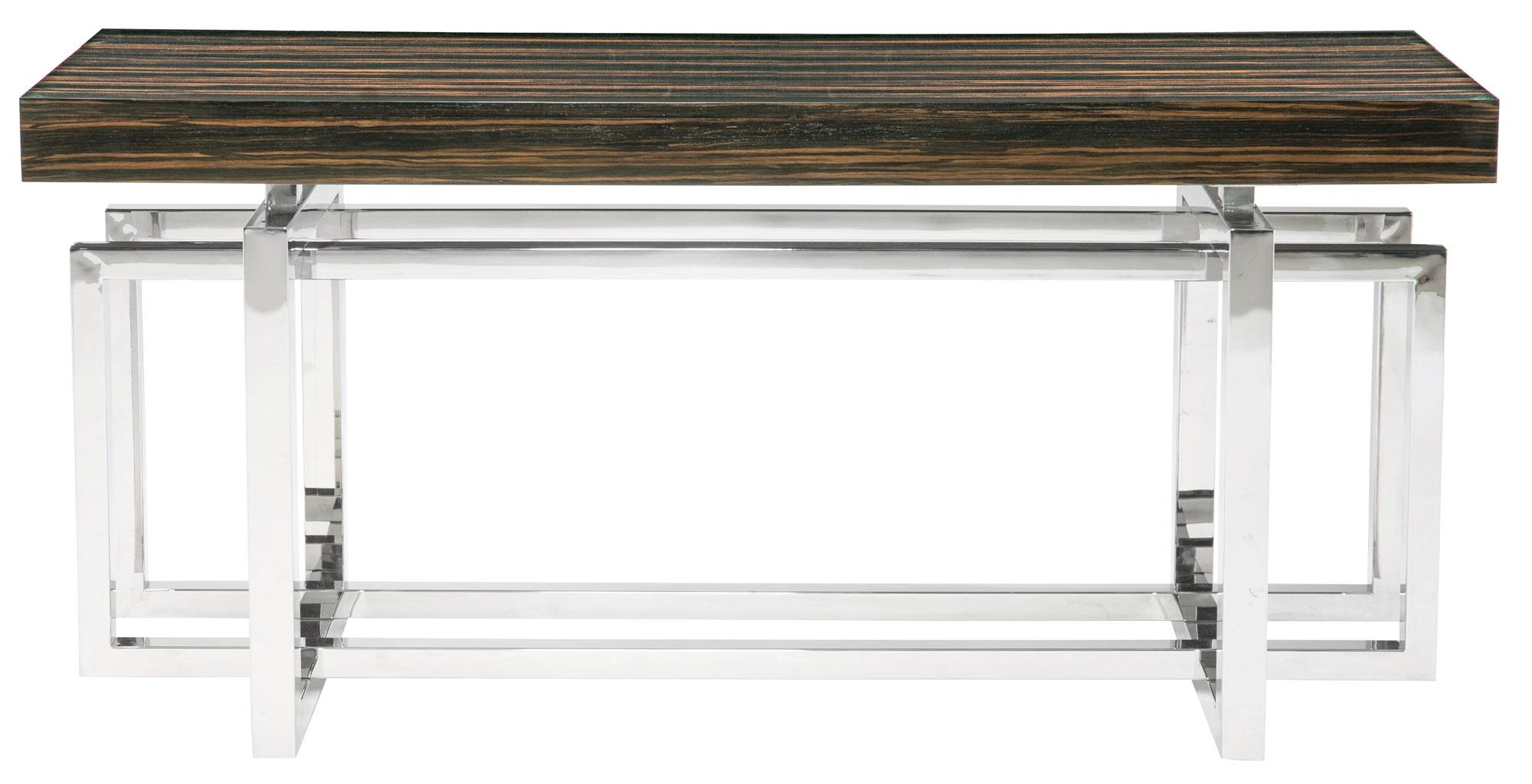 Console Table Wood Top And Metal Base | Bernhardt Intended For Bernhardt Console Tables (Image 12 of 20)