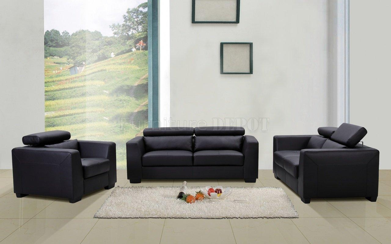 Contemporary Black Leather Sofa And Shanghai Black Leather Modern With Contemporary Black Leather Sofas (View 3 of 20)