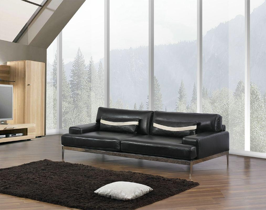 Contemporary Black Leather Sofa: Beautiful Pictures, Photos Of With Contemporary Black Leather Sofas (Image 5 of 20)