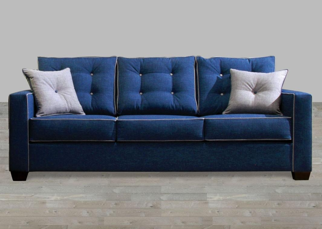 Contemporary Blue Fabric Sofa Pertaining To Contemporary Fabric Sofas (Image 4 of 20)