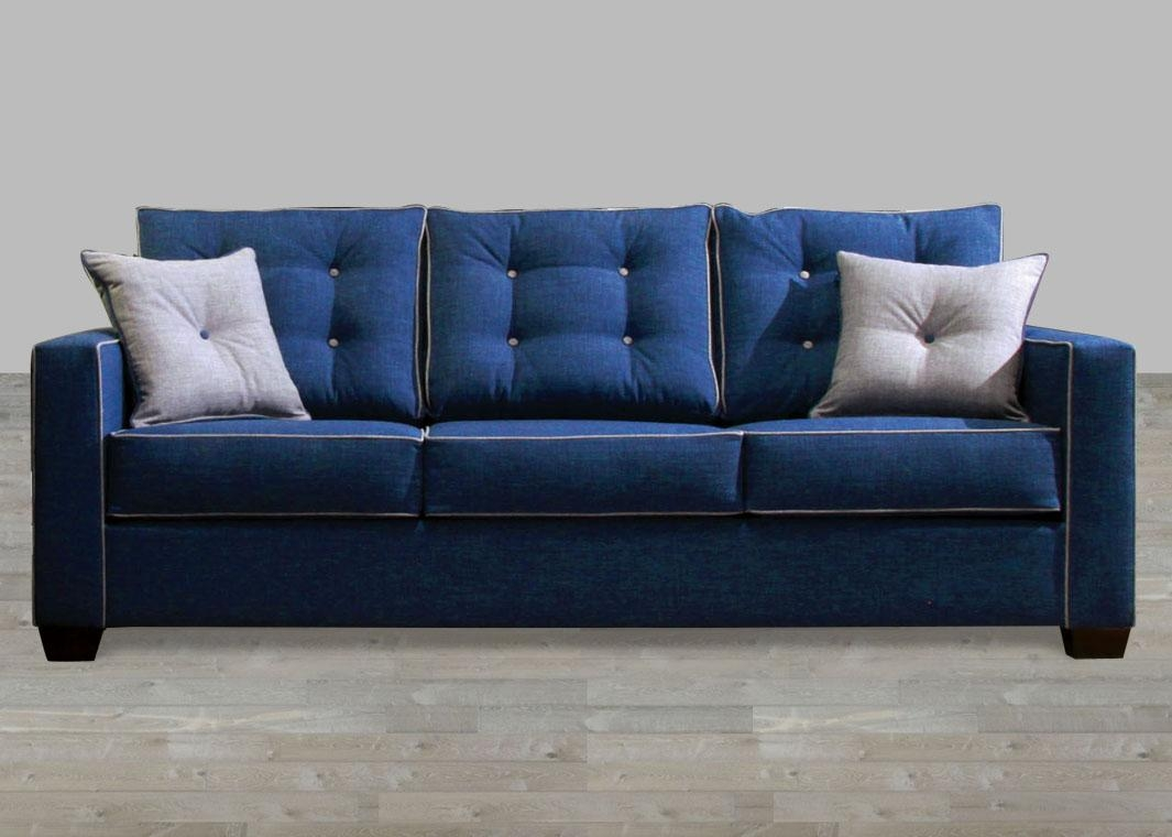 Contemporary Blue Fabric Sofa Within Fabric Sofas (Image 4 of 20)