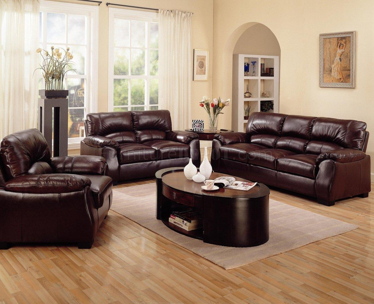 Contemporary Brown Leather Sofa 43 With Contemporary Brown Leather Intended For Contemporary Brown Leather Sofas (View 15 of 20)