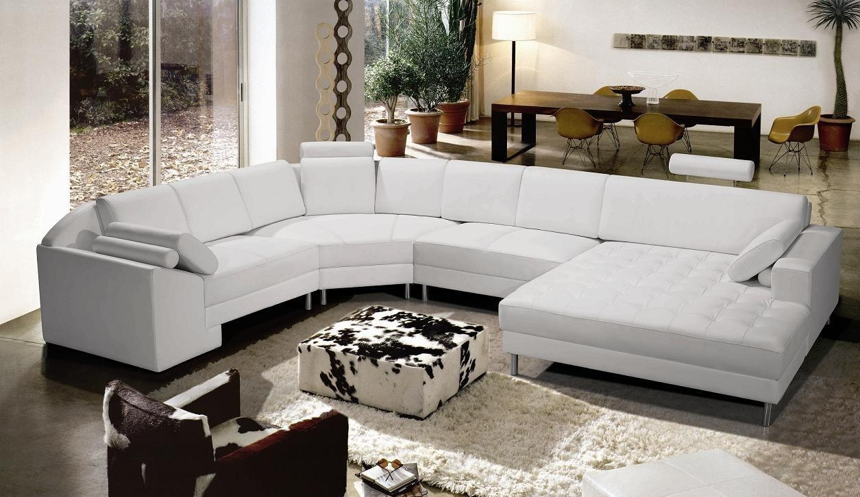 Contemporary Leather Sectional Sofas For Black Modern Sectional Sofas (View 11 of 20)