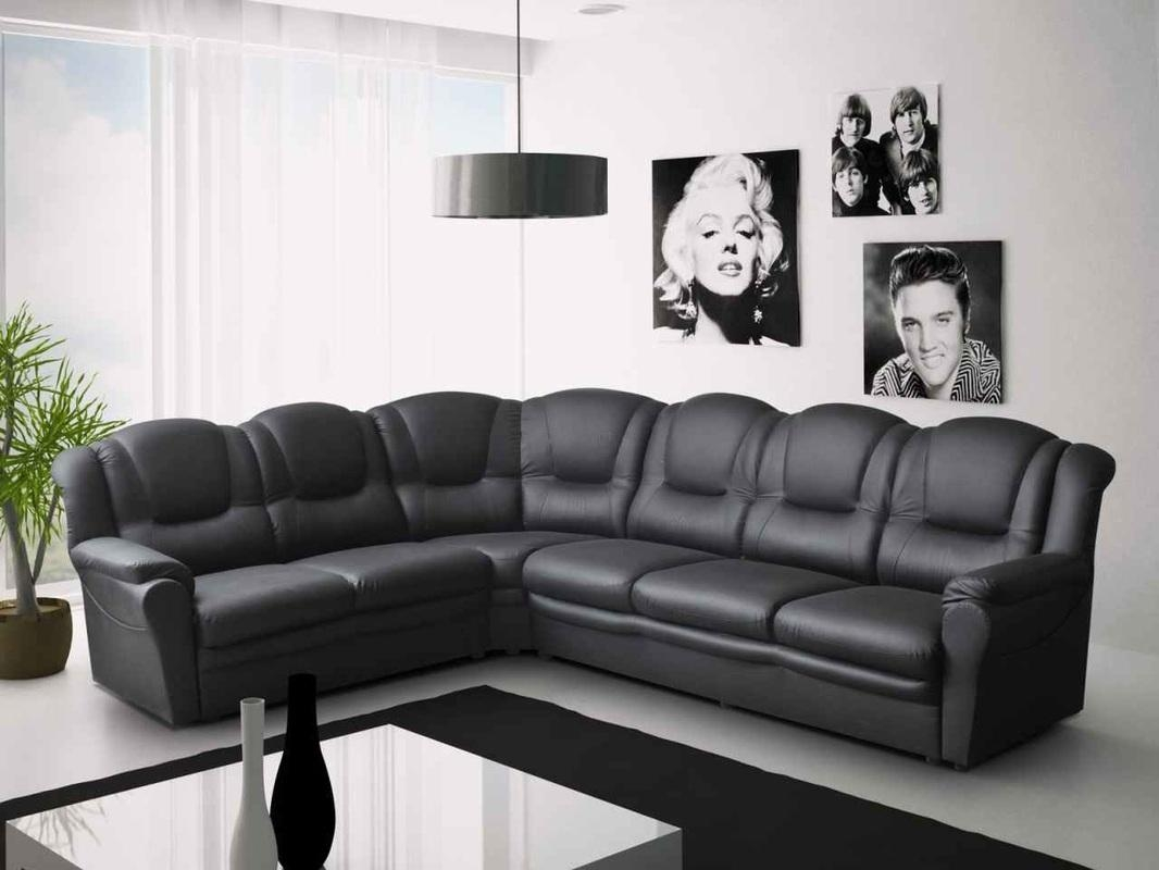 Contemporary Leather Sofas Corner And Design Inspiration Throughout Black Leather Corner Sofas (Image 4 of 20)