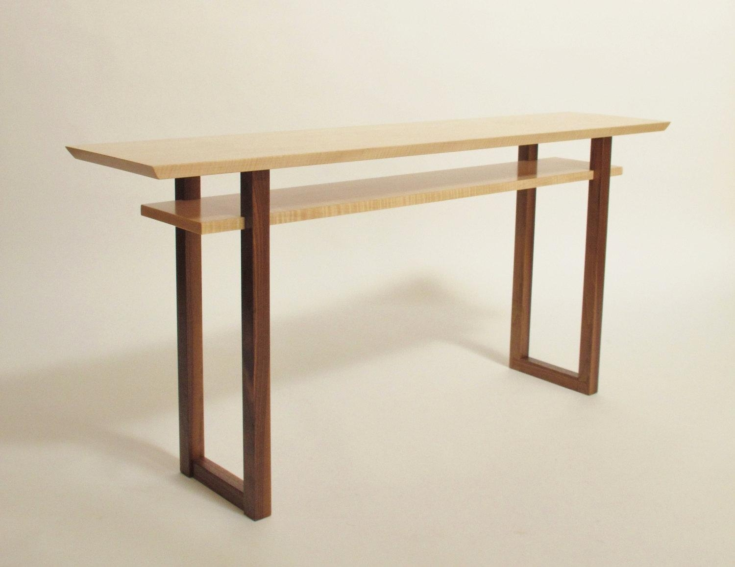 Contemporary Long Low Console Table: Narrow Sofa Table Mid Within Low Sofa Tables (Image 6 of 20)